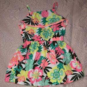 *Toddler* Neon floral dress